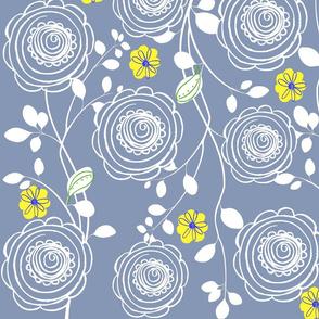 Blue Ranunculus Sheets