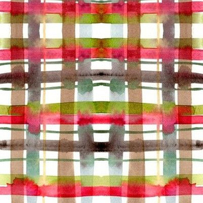 christmas plaid watercolor