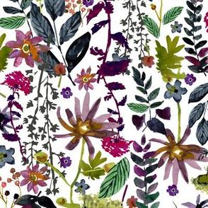 Jewel Tones Floral - Medium Size