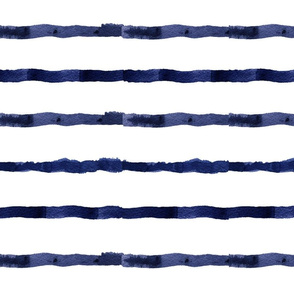 Watercolor Navy Stripes