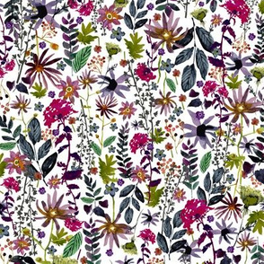 Jewel Tones Floral - Small Size