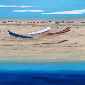 Dory Boats on Newport Beach