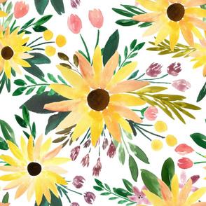 fall sunflowers - large
