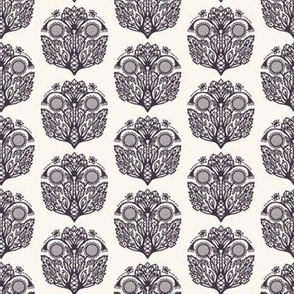 Floral leaf paisley motif persian style