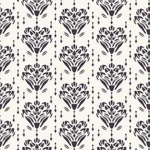 Art Nouveau flower motif Jugendstil style.