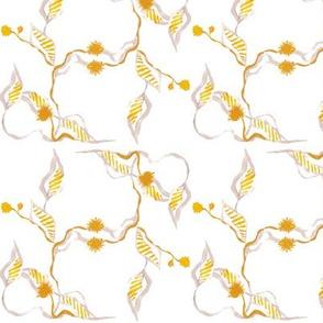 Yellow & White Vine Floral