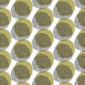 Seamless vector pattern. Modern geometric hand drawn seed circle.