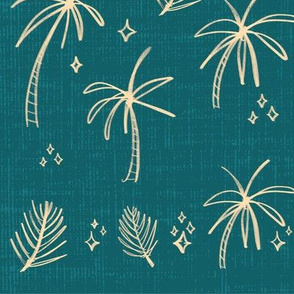 Palm Tree Party - Teal