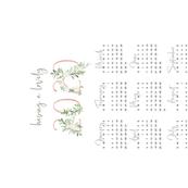 2020 Minimal Blush Floral Calendar