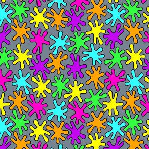 Splat! - neon rainbow colours
