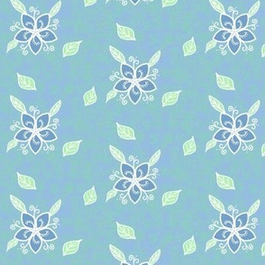 Flower blue, m088