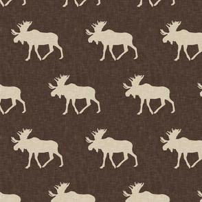 Moose - tan on brown C19BS