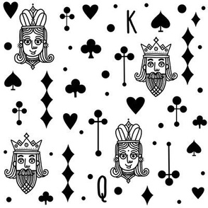 King and Queen black and white doodle