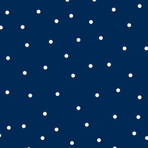 Small beige dots over blue