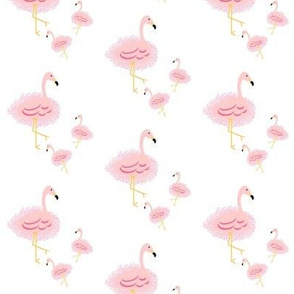 pink fringed flamingo- SM 267