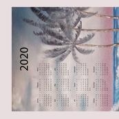 2020 Stormy beach calendar