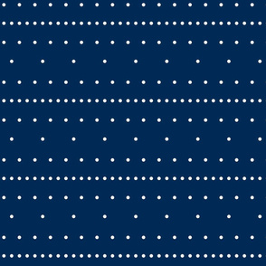 Aligned beige dots over dark blue