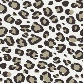 leopard print fabric sfx0513 eucalyptus - animal print, cheetah print, leopard print - baby girl, nursery