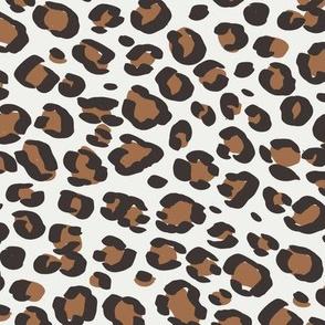 leopard print fabric sfx1336 pecan - animal print, cheetah print, leopard print - baby girl, nursery