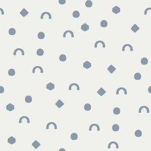 shapes fabric - denim sfx4013 - nursery fabric, baby fabric, earth toned fabric, warm tones fabric, trendy boho fabric