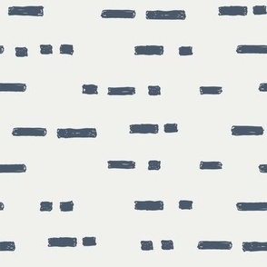 lines indigo fabric - sfx3928 - stripes, nursery stripe, gender neutral stripe, earthy stripe, boho, dash