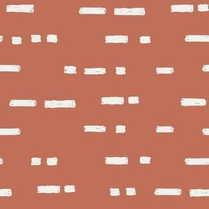 lines apricot fabric - sfx1436 - stripes, nursery stripe, gender neutral stripe, earthy stripe, boho, dash