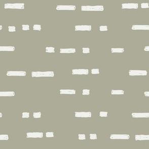 lines sage fabric - sfx0110 - stripes, nursery stripe, gender neutral stripe, earthy stripe, boho, dash