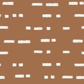 lines pecan fabric - sfx1336  - stripes, nursery stripe, gender neutral stripe, earthy stripe, boho, dash