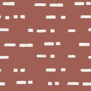 lines redwood fabric - sfx1443 - stripes, nursery stripe, gender neutral stripe, earthy stripe, boho, dash
