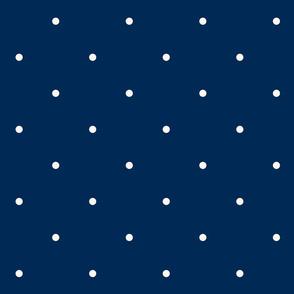 Aligned small beige dots over dark blue