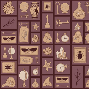 Cabinet of Curiosities - Purple