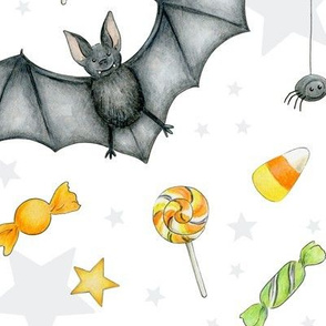 Halloween mix on white - large scale
