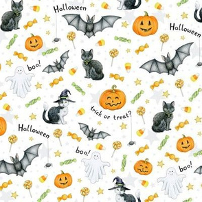 Halloween mix on white - small scale