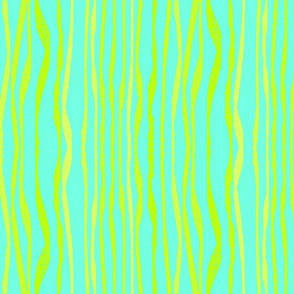 GREEN BLUE WAVY STRIPES
