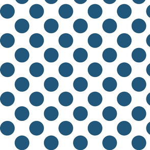Big Polka Dots - Teal on White