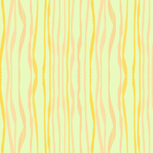 PINK YELLOW WAVY STRIPES