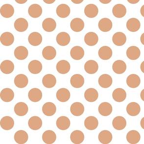 Big Polka Dots - Rose Gold on White