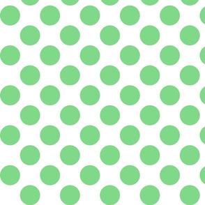 Big Polka Dots - Mint on White