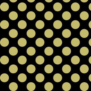 Big Polka Dots - Gold on Black