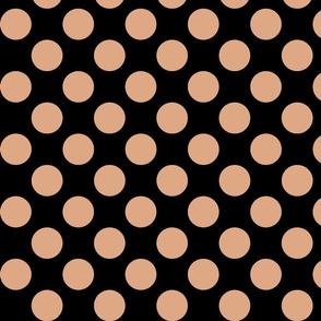 Big Polka Dots - Rose Gold on Black
