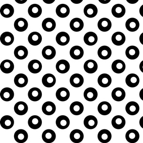 Spots on Big Polka Dots - Black & White on White