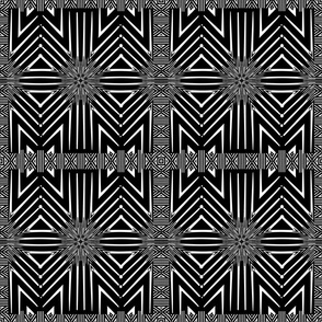 Black and White Wicker Pattern