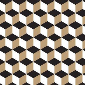 19-12s Cube Abstract Khaki White Black Tan