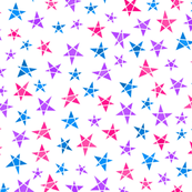 Geo Stars - pink, purple, blue, bi colours