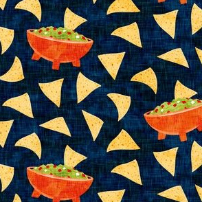 Chips and Guacamole - guac on navy - LAD19