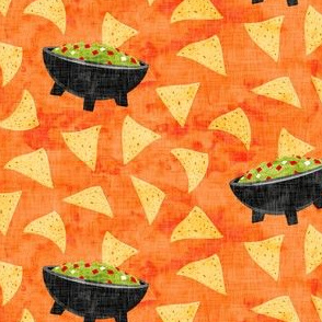 Chips and Guacamole - guac on orange - LAD19