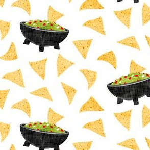 Chips and Guacamole - guac on white  - LAD19