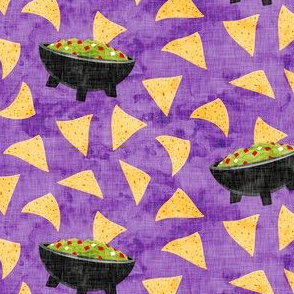 Chips and Guacamole - guac on purple - LAD19