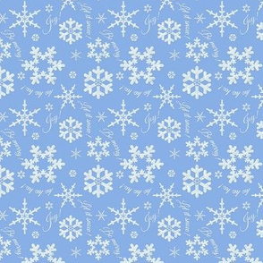 Let It Snow Soft Blue Small
