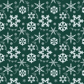 Let It Snow Forest Green Small